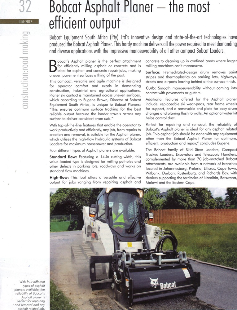, Bobcat Asphalt Planer – the most efficient output