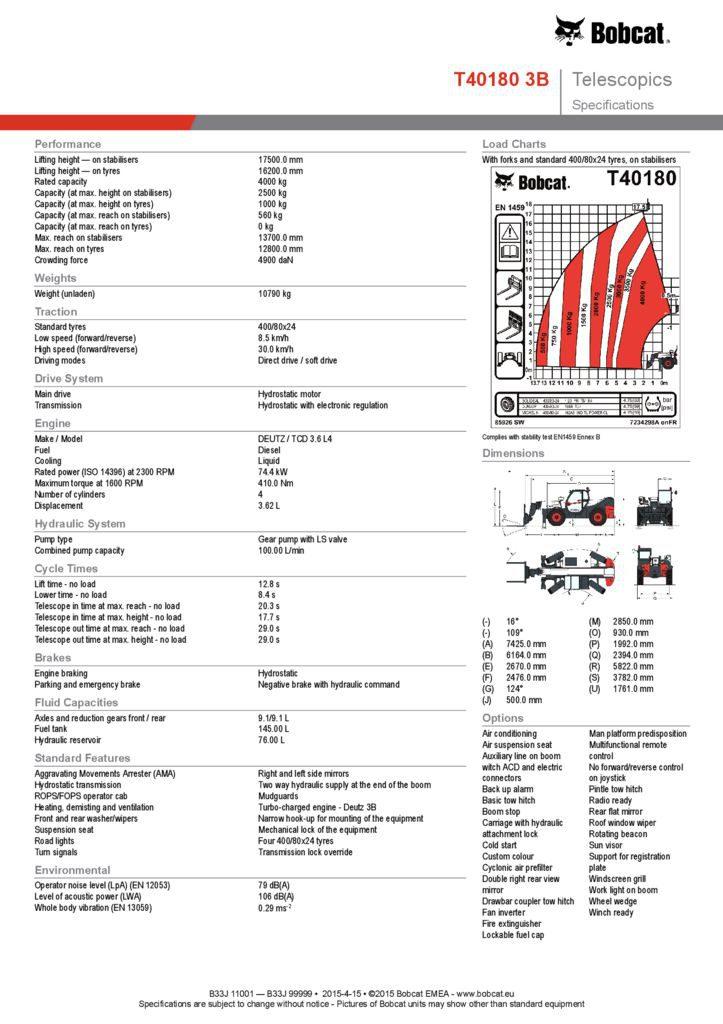 Bobcat T40180 Telehandler for Sale and Rent | Bobcat SA