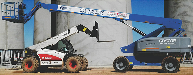 Goscor Access Rental and Bobcat Equipment Rental team up to provide turnkey solutions to Western Cape Wind Farm