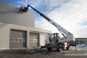 , It's a man platform … it's a crane … it's a new Bobcat Rotary Telescopic Handler!