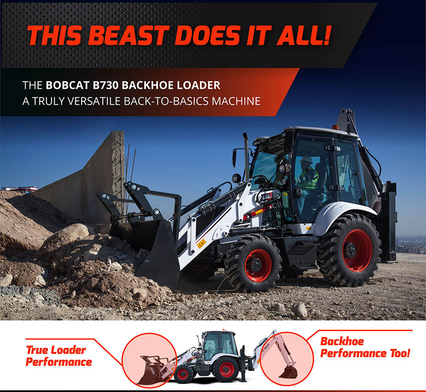 , Bobcat B730 Backhoe Loader
